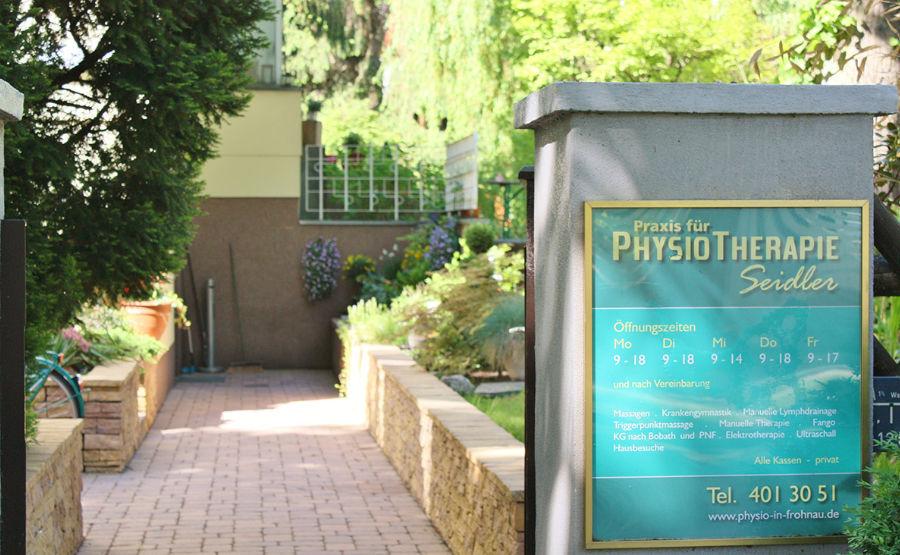 Seidler Physiotherapie - Eingang